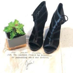 Josie Lace up Black Heels